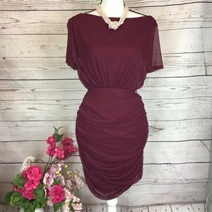 Fashion Nova Burgundy Dress. Small ❤️